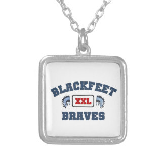 Blackfeet XXL Braves Silver Plated Necklace
