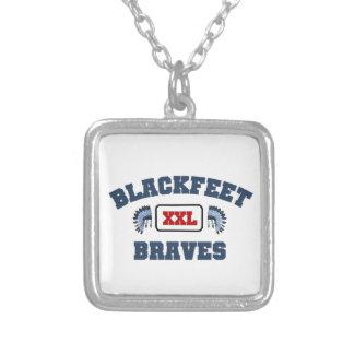 Blackfeet XXL Braves Square Pendant Necklace