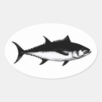 Blackfin Tuna (illustration) Oval Sticker
