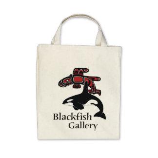 Blackfish Gallery logo color Canvas Bags