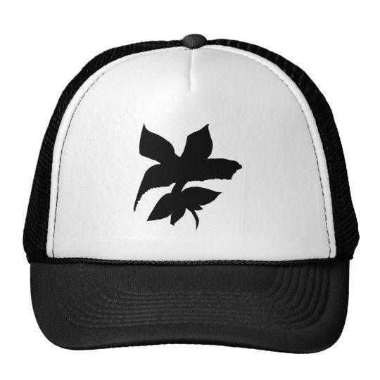 blackflower trucker hat