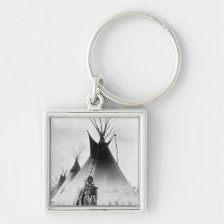 Blackfoot Brave, near Calgary, Alberta, 1889 Key Chains