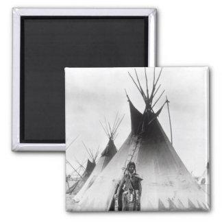 Blackfoot Brave, near Calgary, Alberta, 1889 Magnet