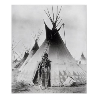 Blackfoot Brave, near Calgary, Alberta, 1889 Poster