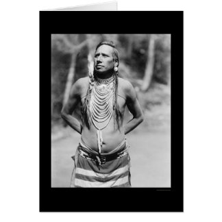 Blackfoot Chief Stabbed-by-Nustah 1922 Card