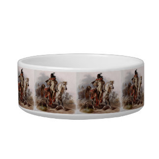 Blackfoot Indian On Arabian Horse being chased Bowl