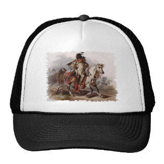 Blackfoot Indian On Arabian Horse being chased Hat