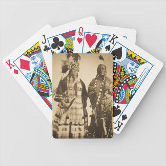 Blackfoot Indians Chief and Warrior Vintage Bicycle Playing Cards
