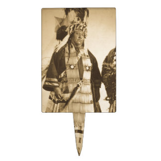 Blackfoot Indians Chief and Warrior Vintage Cake Topper