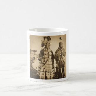 Blackfoot Indians Chief and Warrior Vintage Coffee Mug