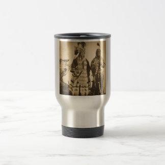 Blackfoot Indians Chief and Warrior Vintage Travel Mug