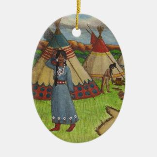 Blackfoot Indians Christmas Ornament