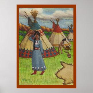 Blackfoot Indians Poster