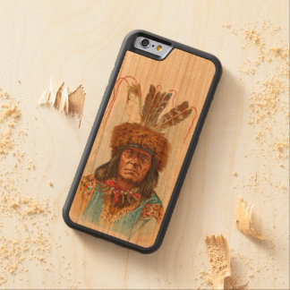 Blackfoot Sioux Chief: Big Razor Carved Cherry iPhone 6 Bumper Case