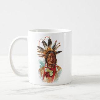 Blackfoot Sioux Chief: Many Horns Coffee Mug