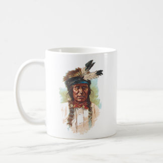 Blackfoot Sioux Chief: Red Thunder Coffee Mug