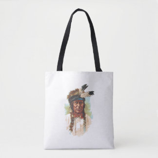 Blackfoot Sioux Chief: Red Thunder Tote Bag