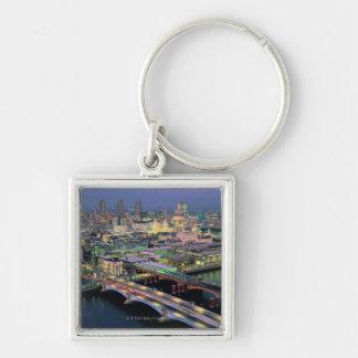 Blackfriar's Bridge Silver-Colored Square Keychain