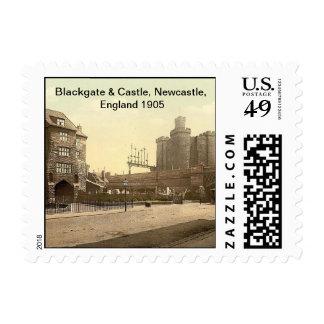 Blackgate & Castle, Newcastle, England 1905 Postage