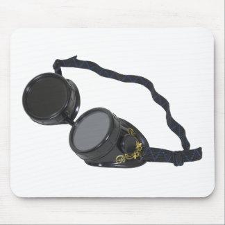 BlackGogglesSteampunk050110 Mouse Pad