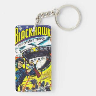 Blackhawk comic books Double-Sided rectangular acrylic keychain