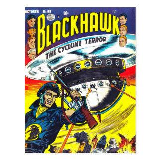 Blackhawk comic books postcard