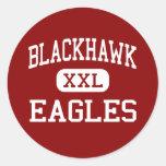 BlackHawk - Eagles - joven - soporte Morris Pegatina Redonda