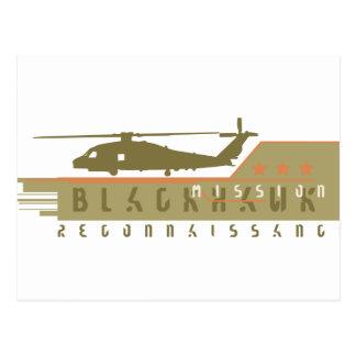 Blackhawk Helicopter Recon Team Postcard