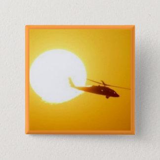 BLACKHAWK SUNSET PINBACK BUTTON