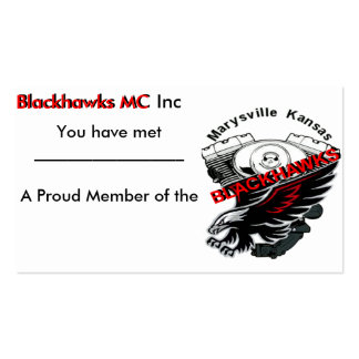 Blackhawks Business Card