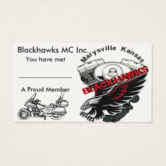 Blackhawks Business Card Goldwing edition