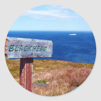 Blackhead Classic Round Sticker