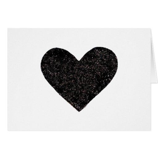 BlackHeart Greeting Card