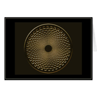 blackhole for gold greeting card