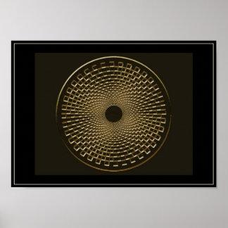 blackhole para el oro póster
