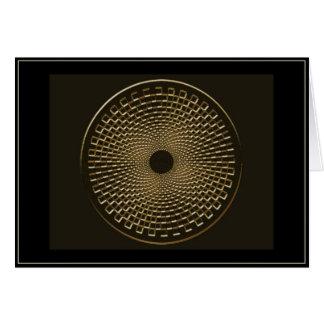 blackhole para el oro tarjeta de felicitación