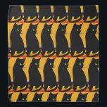 """&quot;Blackie&quot; Digital Cat Design Bandana<br><div class=""""desc"""">A specially designed digital black cat! Designed by Christine Costanzo.</div>"""