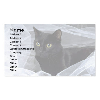 Blackie en blanco tarjeta personal
