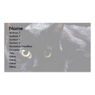 Blackie en negro tarjetas de visita