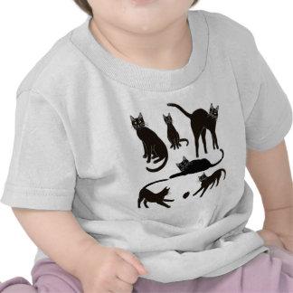 Blackie la camiseta del niño del gato negro