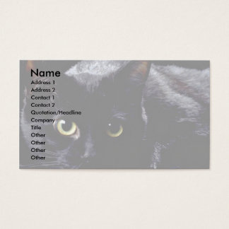 Blackie On Black Business Card