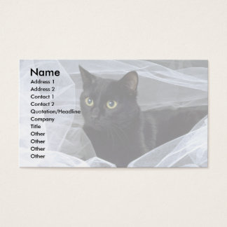 Blackie On White Business Card