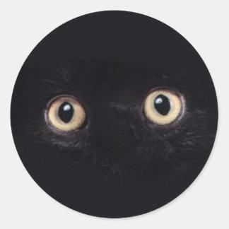 blackie pegatina redonda