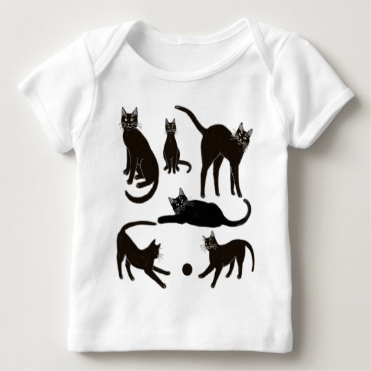 Blackie the Black Cat Infant Long Sleeve Baby T-Shirt