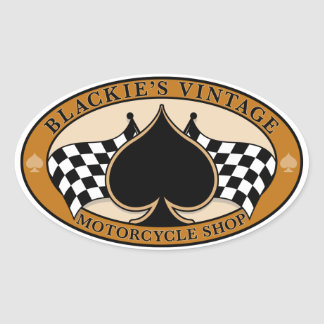 Blackie's Vintage Motorcycle Shop Oval Sticker