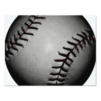 "Blackish and Grey/Gray Baseball 4.25"" X 5.5"" Invitation Card"