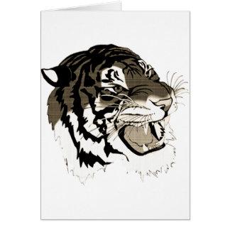 Blackish Grey/Gray Tiger Card