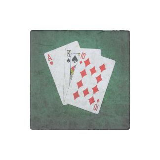 Blackjack 21 point - Ace, King, Ten Stone Magnet