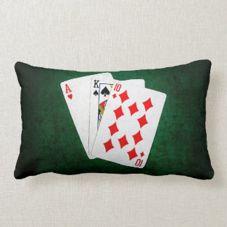 Blackjack 21 point - Ace, King, Ten Lumbar Pillow