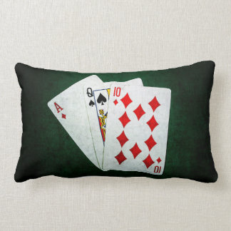 Blackjack 21 point - Ace, Queen, Ten Lumbar Pillow